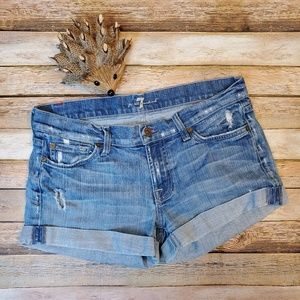 7 for all Mankind Jean Shorts 28
